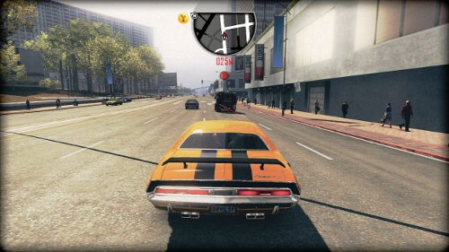 Drifting American muscle cars round busy interchanges is an important part of the game.