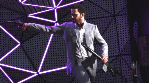 Seriously...  Again...  Either hire more animators Rockstar or just don't put two handed weapons in the game next time.